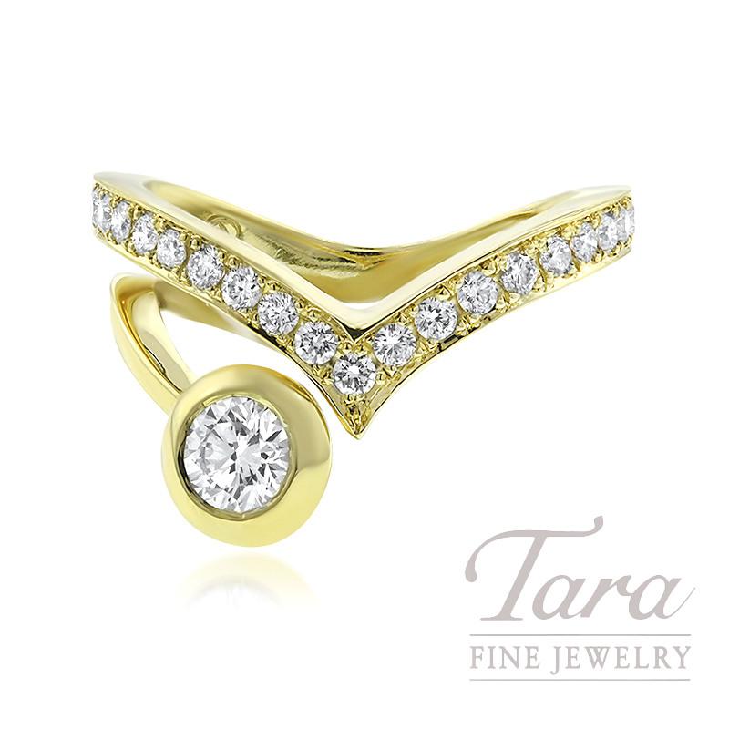 Norman Covan 18k Yellow Gold Diamond Fashion Ring, .72TDW