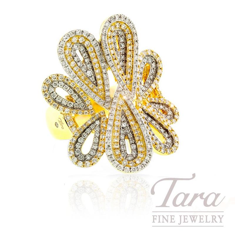 Diamond Ring in 18k Yellow Gold, 1.28 TDW