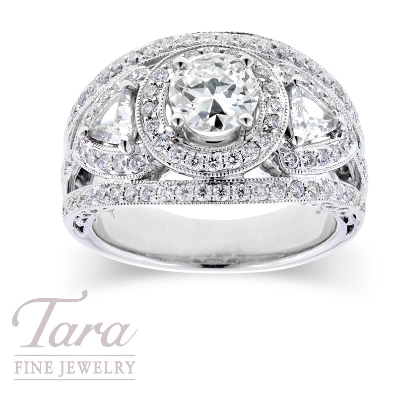 Diamond Engagement Ring Semi-Mount with .80ct Center Stone & 1.15TDW