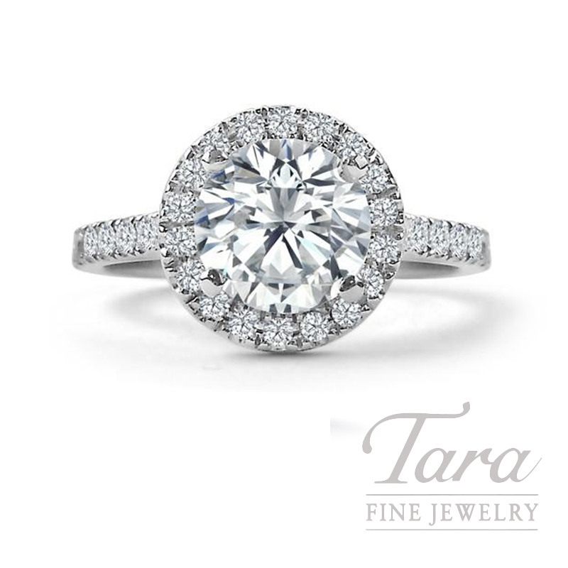 Forevermark 18k White Gold Diamond Halo Engagement Ring, 1.00CT G-VS2 Center, .37TDW