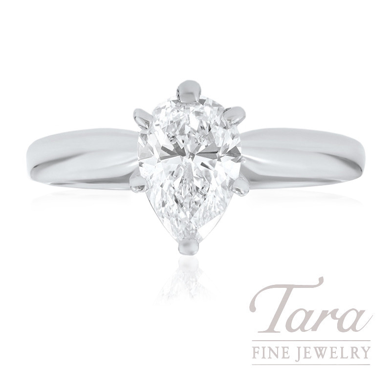 Pear Shape Diamond Solitaire Engagement Ring - Click for Our Sizes in Stock!