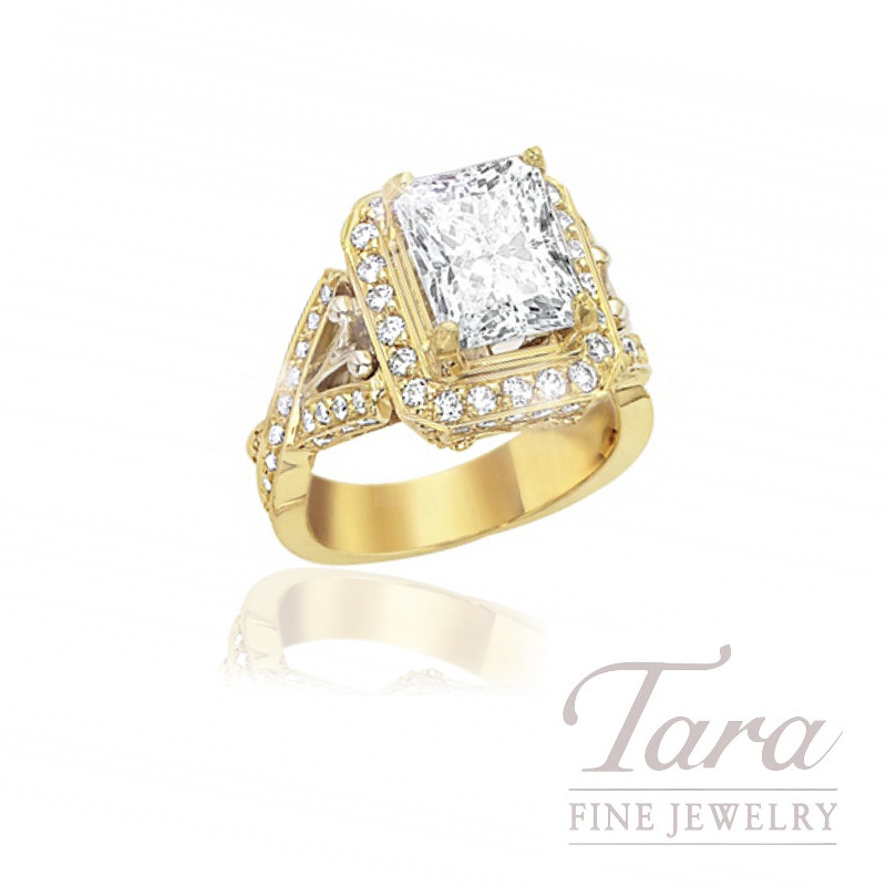 18K Yellow Gold Diamond Wedding Ring, 1.04TDW (Center Stone Sold Separately)