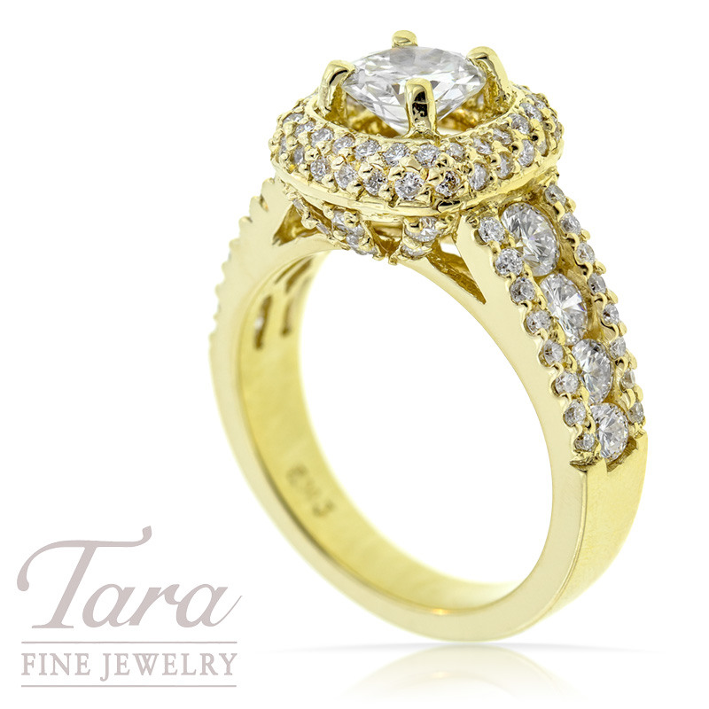 Diamond Wedding Ring in 18K Yellow Gold, 1.56 CT TW (Center stone sold separately)