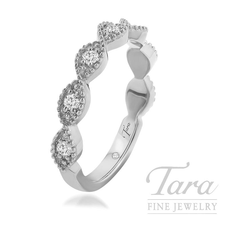 18K White Gold Diamond Fashion Ring, 3.5G, .20TDW