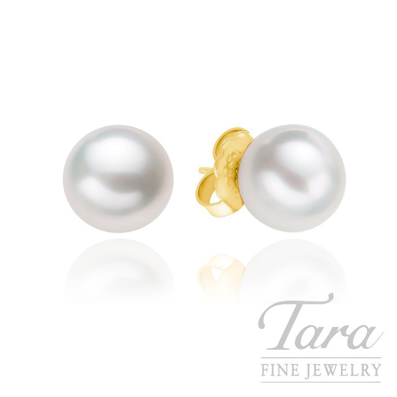 Mikimoto 18k Yellow Gold Pearl Stud Earrings - Click for Availabe Sizes!