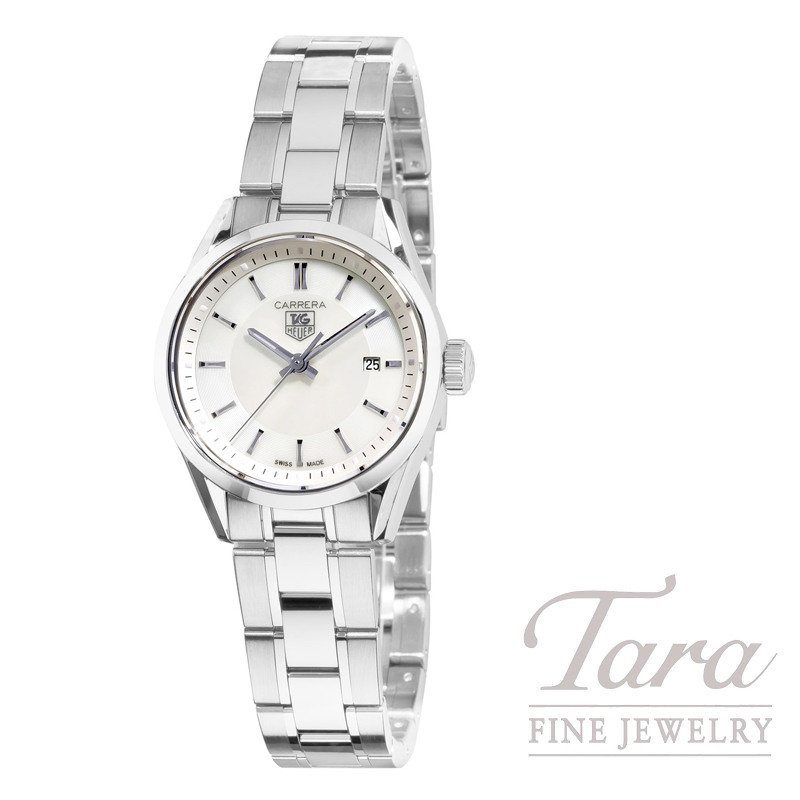 Tag Heuer Watch 27mm Carrera with Mother of Pearl