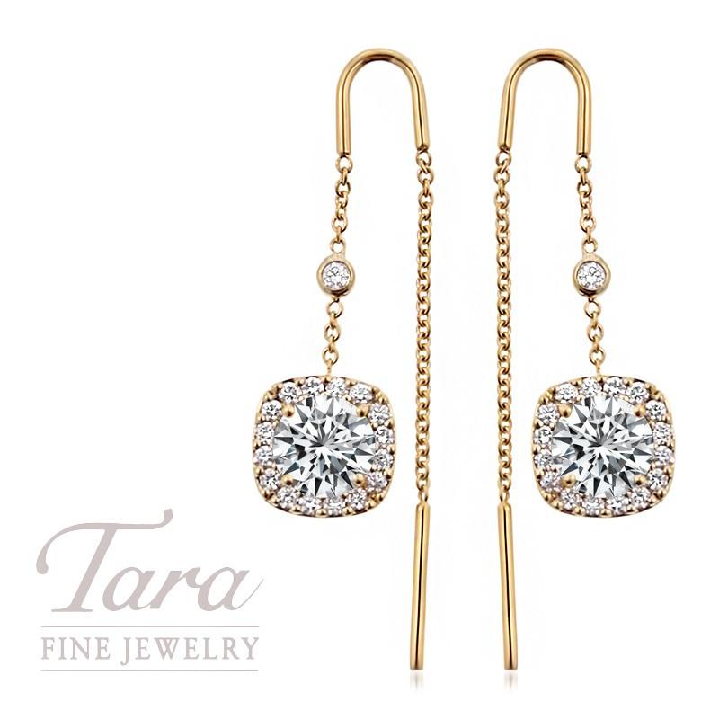 18k Yellow Gold Forevermark Threader Earrings