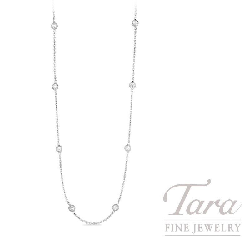 Roberto Coin 18K White Gold Diamonds by the Inch Necklace, .64TDW, Diamonds by the Inch Collection