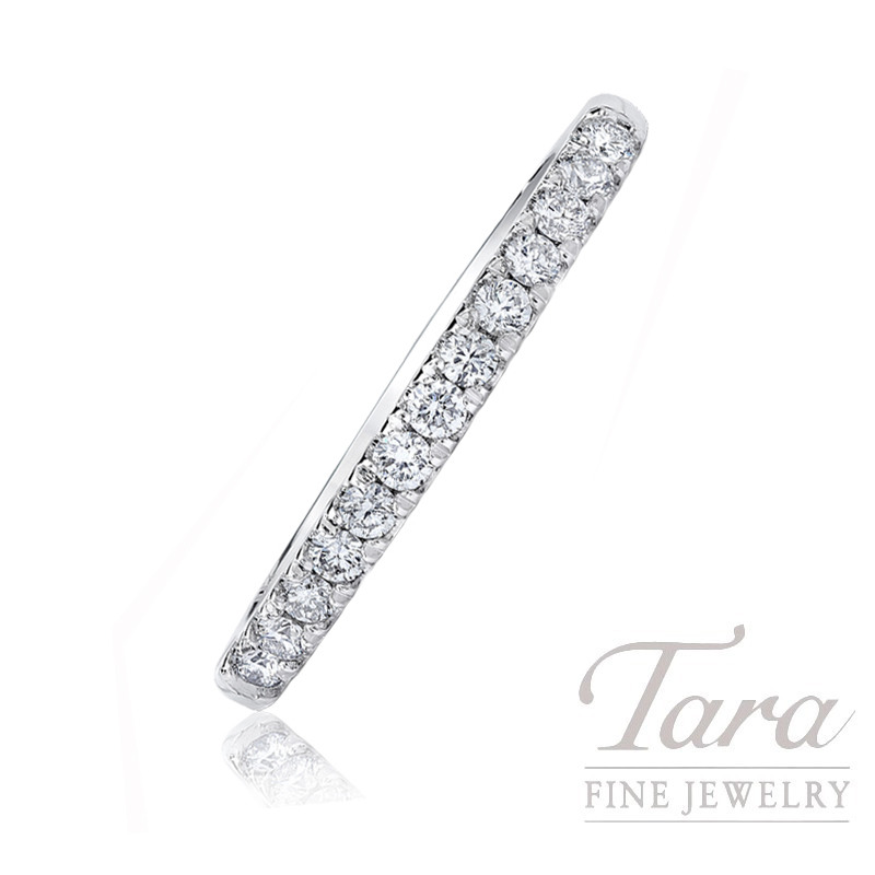 18k White Gold Diamond Band, .42TDW