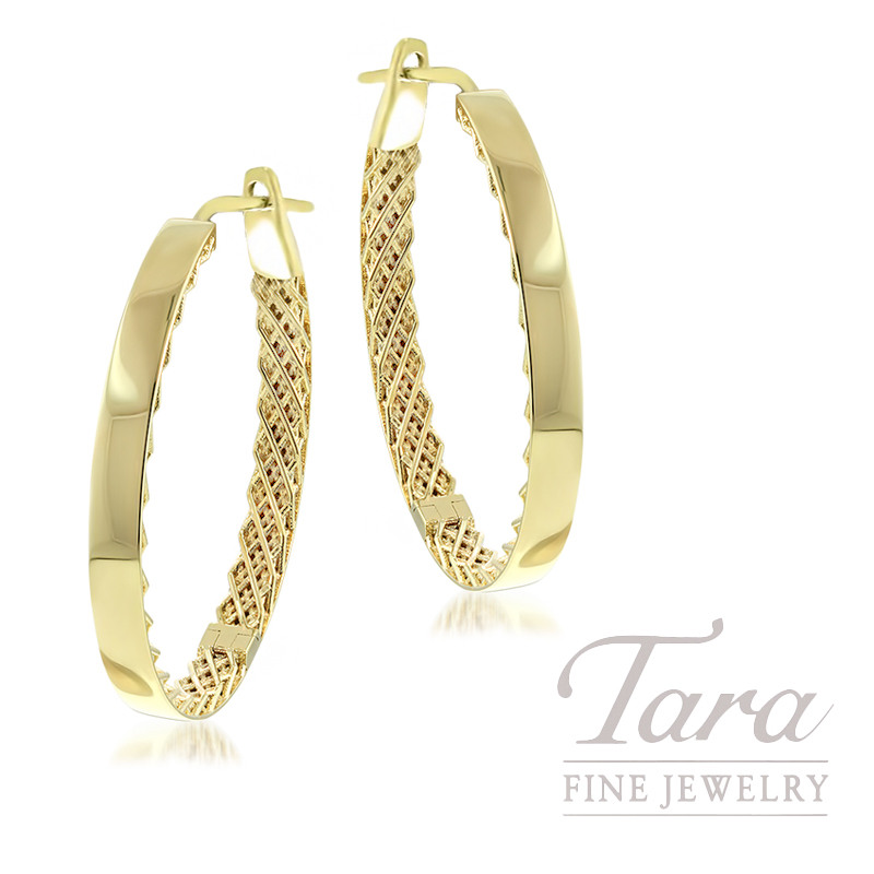 Roberto Coin 18K Yellow Gold Symphony Hoop Earrings