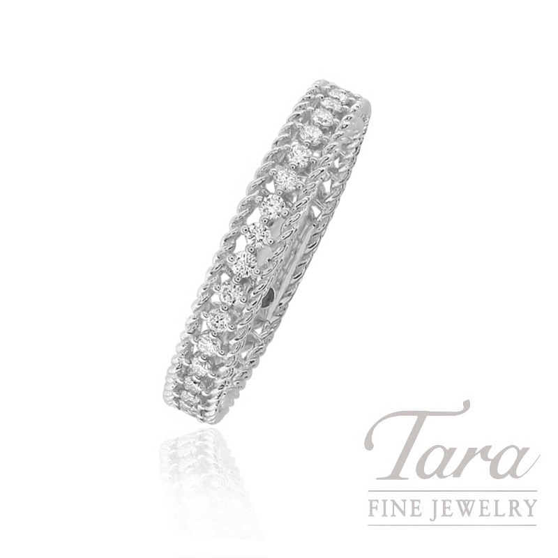 Roberto Coin 18k White Gold Eternity Diamond Band, .43TDW, Symphony Collection