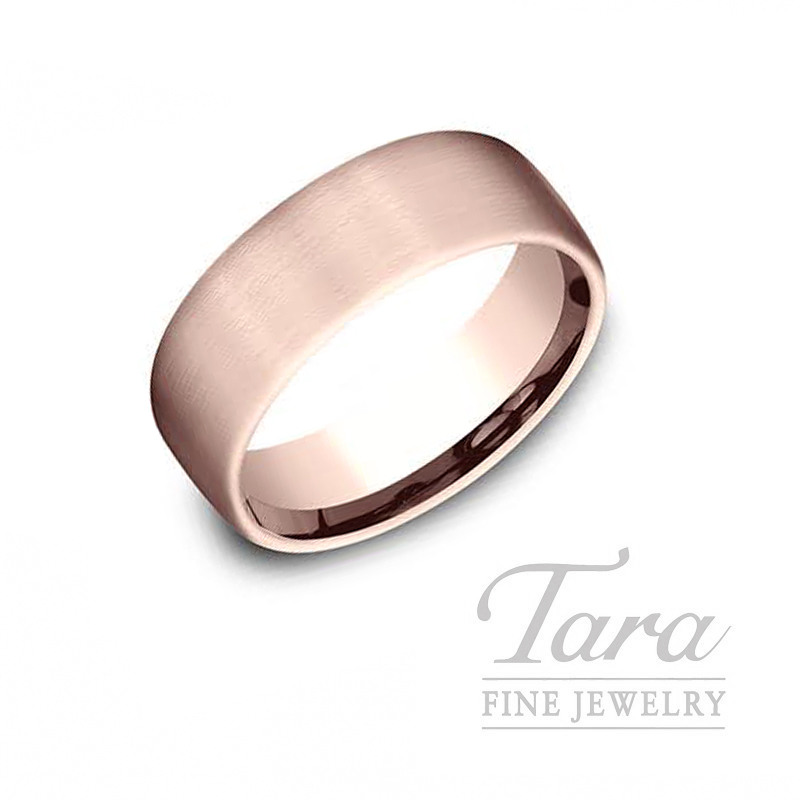 Gentlemen's 14k Rose Gold Wedding Band, 10.9G, Size 10