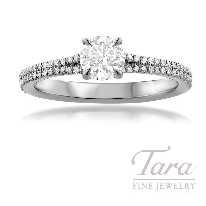 Forevermark Platinum Diamond Engagement Ring, 0.50CT. Round Forevermark Diamond, 72 Round Forevermark Diamonds 0.22TDW