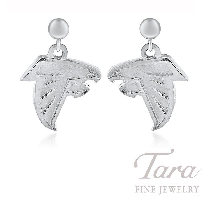 86ec59a0 Sterling Silver Atlanta Falcon Earrings