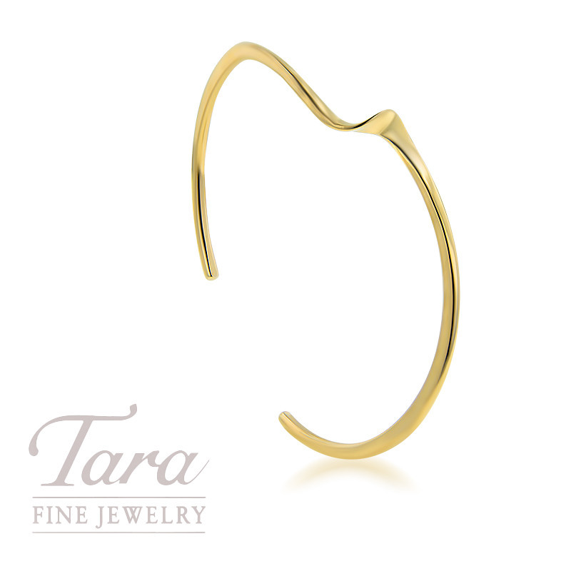 14K Yellow Gold Twist Cuff Bracelet