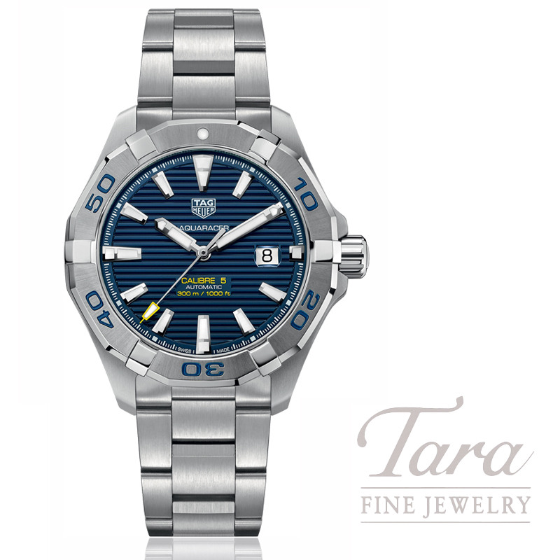 Tag Heuer Watch 43mm Aquaracer Automatic, Blue Dial
