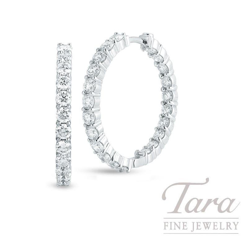 Roberto Coin 18K White Gold Diamond Hoop Earrings, 3.43TDW