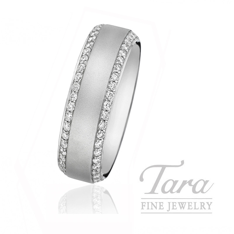 Gentlemen's Platinum and Diamond Wedding Band, 14.8G, 1.41TDW