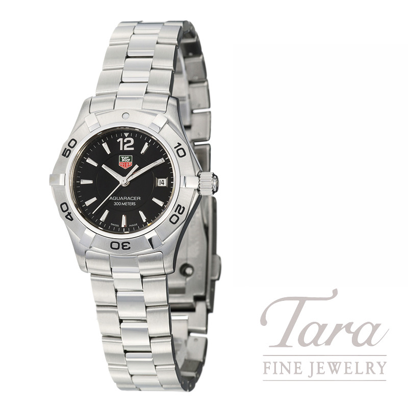 Tag Heuer Watch 32mm Aquaracer, Black Dial