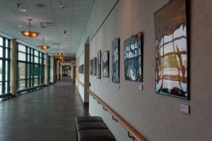 The MacDowell Gallery on the second floor of Outpatient Care Center