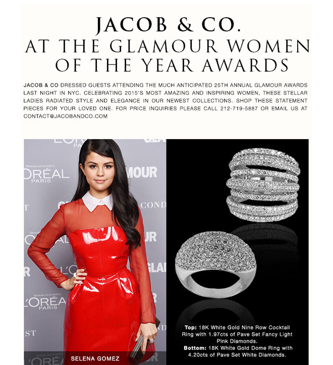 Jacob & Co.  at The Glamour Women  of The Year Awards