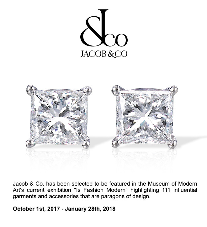 Jacob & Co. has been selected to be featured in the Museum of Modern Art's current exhibition.