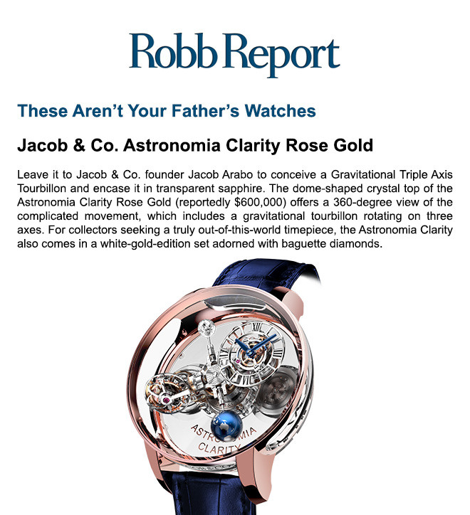 Jacob & Co. Astronomia Clarity Rose Gold