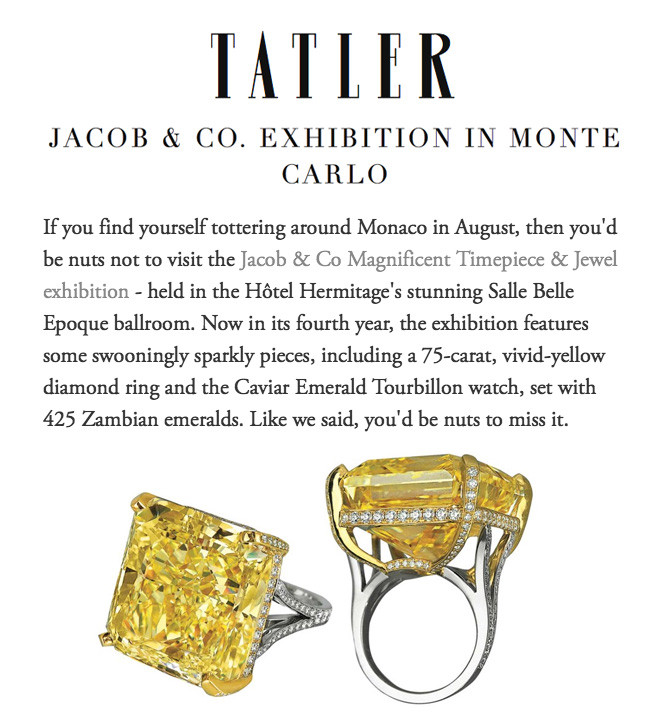 Jacob & Co. exhibition in Monte Carlo